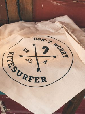 Totebag - don't worry be a kitesurfer
